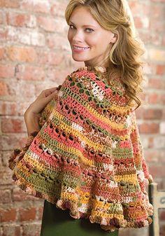 Santa Fe Sunset Shawl: free #crochet pattern