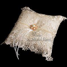 Wedding Ring Bearer Pillow / Lace Ring Cushion 7