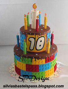 FREEBIE -STUDIO CUT FILE birthday cake box gift favour decoration LEGO Sunshine Hobby Works