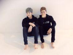 B.A.P's Zelo and Bang Yong Guk Take Cute Couple Photos