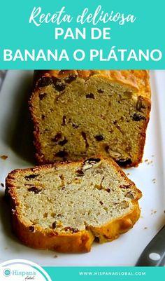 Bunt Cakes, Pan Bread, Banana Recipes, Banana Bread, Cooking, Sweet, Desserts, Snacks Saludables, Food