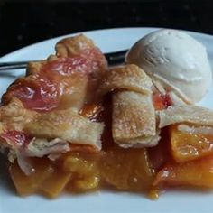 Chef John's Peach Pie Recipe - Allrecipes.com----MAKE PEACH PIE LIKE THIS.  Video showing the ease of reducing the juices and the perfect peach pie that results.