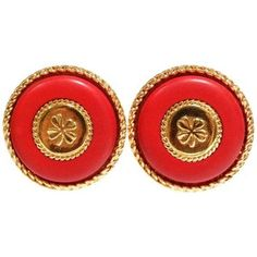 Preowned 1980s Iconic Chanel Clover Earrings