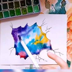 watercolor star paintings👉www paperhouse me💝get 3 with code tracked shipping Star Painting, Watercolour Painting, Indoor Paint Colors, Mädchen Tattoo, Gum Arabic, Zentangle, Art Drawings, Projects To Try, Stationery