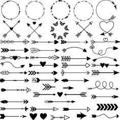 45 Ideas For Drawing Easy Doodles Products Bullet Journal Ideas Pages, Bullet Journal Inspiration, Doodle Drawings, Easy Drawings, Mini Tattoos, Small Tattoos, Vintage Clipart, Arrow Clipart, Arrow Drawing