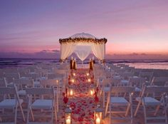 This makes me smile blissfully! So freaking pretty.  It's #magical #Beach Front Wedding #Dreamy wedding