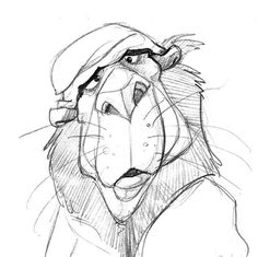 An old lion and drawing. Mohammad Kheirandish: Mohammad Kheirandish: #characterdesign #art #animation #MHD_kheirandish #MHD_kheirandish_art #animationdrawing #illustrate #drawing #lion