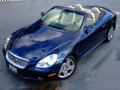 2004 Lexus SC 430 Convertible 2004 Lexus SC 430 Convertible Car looks awesome in beautiful colors White Gold Crystal Twilight Amethyst Pearl Millennium Silver Metallic Midnight Pine Pearl Ind. Sc430 Lexus, Lexus 430, Lexus Cars, Bmw Cars, My Dream Car, Dream Cars, Lexus Convertible, Tennis Accessories, My Ride
