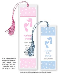 Baby Shower Bookmark Love It Hand Out The From