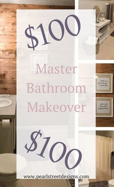 Master bathroom for under $100.  Yes it can be done!