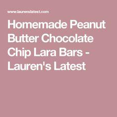 Homemade Peanut Butter Chocolate Chip Lara Bars - Lauren's Latest