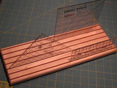 Wood Quilting Ruler Holder  Large by Rabbittrax on Etsy, $10.50