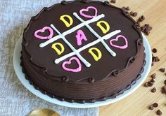 Birthday Cake For Father, Dad Birthday Cakes, Fathers Day Cake, Funny Birthday, Birthday Ideas, Wiener Schnitzel, Mothers Day Cakes Designs, Chocolate Cake Designs, Cake Delivery