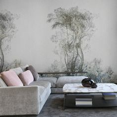 Tropical rainforests were the greatest source of inspiration for the wallpaper collection Monsoon by Arte. Interior Walls, Best Interior, Interior Design, Arte Wallcovering, Touch Of Gray, Tropical, Floor Ceiling, Wallpaper Calculator, Most Beautiful Flowers