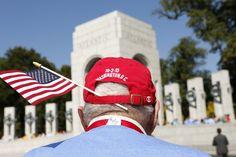 ACCESS GRANTED: World War II veteran John Helling toured the World War II Memorial in Washington on Wednesday. The memorial is technically c...