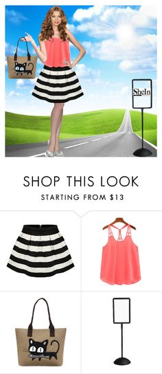 """shein racer back top"" by arohii ❤ liked on Polyvore featuring Safco, contestentry and shein"