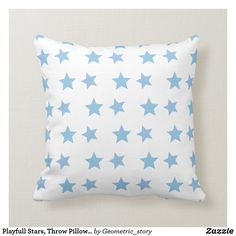 "Playfull Stars, Throw Pillow 16"" x 16"" Accent your home with custom pillows from Zazzle and make yourself the envy of the neighborhood. Made from high-quality Simplex knit fabric, these 100% polyester pillows are soft and wrinkle-free. #pillow #throw #homedecor #home #interiordesign #interiors #interiorstyling #pillows #bedroom #bedroomdecor #zazzle #zazzlemade #zazzlecom #zazzlestore #star #blue #white #pattern Traditional Family Rooms, Groundhog Day, Group Work, Cotton Bedding, Work Inspiration, Custom Pillows, Home Decor Items, Throw Pillows, Design"