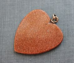 Large+Victorian+Aventurine+Glass+Heart+Pendant+by+TheHiddenChamber,+$45.00