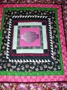 Pink Harley quilt... love!