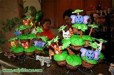 Cake Designs for Kids Birthdays -  Fun Animals Cake #cakedesigns
