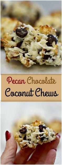 Pecan Chocolate Coconut Chews