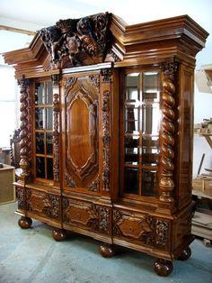 Antique Victorian Bookcase Designs For Classic Home - GetDesignIdeas Victorian Furniture, Victorian Decor, Unique Furniture, Wooden Furniture, Victorian Homes, Vintage Furniture, Furniture Design, Furniture Stores, Cheap Furniture