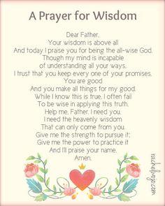 A Prayer for Wisdom