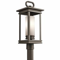49478RZ Kichler Transitional South Hope Outdoor Post Mount 1Lt (rubbed bronze)