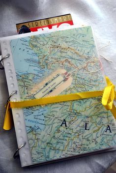 Check out this awesome homemade travel journal! Make sure you keep all your ticket stubs, receipts, and notes to remember your travels!