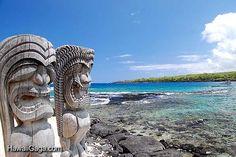 Place of Refuge - Kona, Hawaii.  Sacred to the kama'aina