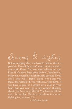 Dreams, Wishes, Goals, Dream really big inspirational quotes, bravery poetry Soul Love Quotes, Dream Quotes, Words Quotes, Quotes To Live By, Me Quotes, Qoutes, Sayings, Inspirational Poetry Quotes, Positive Quotes
