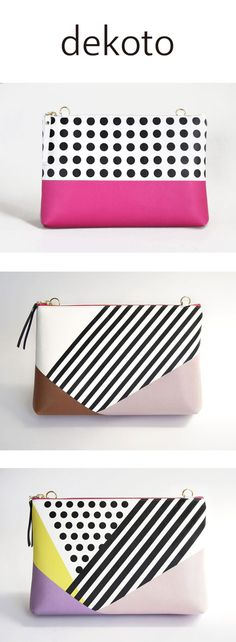 """Colorful Clutch Purse - Carry it as a clutch, or attach an optional chain. With its 2.75"""" depth, you can carry all of your essentials. It instantly bejewels any simple ensemble you already own ! https://www.etsy.com/shop/dekoto?ref=l2-shopheader-name&section_id=20043733"""