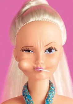lolly pop or tough girl Barbie...too funny
