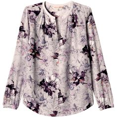 Rebecca Taylor Floral Print Blouse (€155) ❤ liked on Polyvore featuring tops, blouses, dress shirts, grey combo, floral print blouse, gray silk blouse, rebecca taylor blouse and grey silk blouse