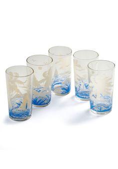 Vintage Surf's Cup Glass Set