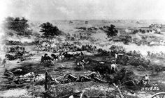 July 3, 1863: Battle of Gettysburg ends - On this day 150 years ago, the Battle of Gettysburg, which took place July 1 through 3, finally ended. The artist's rendition shows the carnage. Fought over three days and resulting in the highest number of casualties—approximately 51,000 from both the North and the South—the battle is considered a turning point of the Civil War and, months later, the site of President Abraham Lincoln's Gettysburg Address.
