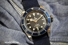 Tudor Heritage Black Bay with Blue Bezel ref. 79220B (Live photos & price) - Monochrome Watches