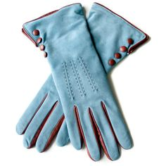 Suede Blue Leather Gloves (5.205 RUB) ❤ liked on Polyvore featuring accessories, gloves, blue, guanti, rukavice, suede leather gloves, leather gloves, blue leather gloves, suede gloves and blue gloves