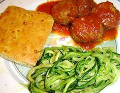 BAKED MEATBALLS - Linda's Low Carb Menus & Recipes... the whole plate is only like 5 carbs