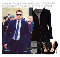 """Imagine Going to an Undercover Mission with Steve Where He Has to Be Your Husband"" by xdr-bieberx ❤ liked on Polyvore featuring Morgan, Harmont & Blaine, MICHAEL Michael Kors, Gianvito Rossi and NARS Cosmetics"