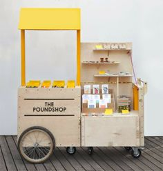 The Poundshop Mobile Stand // brand package identity pop up store Kiosk Design, Display Design, Booth Design, Retail Design, Store Design, Display Ideas, Stall Display, Design Shop, Mobile Stand