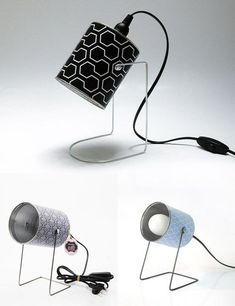Lámparas retro con latas, ©Mr & Mrs Bin in A little market | Retro stylish lamps made of cans