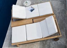 Tribu Vis A Vis Garden Sun Lounger - Tribu Outdoor Furniture At Go Modern Pool Furniture, Diy Furniture Projects, Living Furniture, Living Room Chairs, Outdoor Lounge, Outdoor Pool Shower, Outdoor Living, Design Lounge, Contemporary Outdoor Furniture