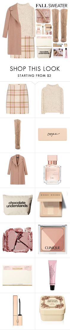 """""""Fall Sweater: Natural Blush"""" by cara-mia-mon-cher ❤ liked on Polyvore featuring MARC CAIN, Tom Ford, Brother Vellies, Jessica Simpson, Rochas, Maison Francis Kurkdjian, Dogeared, Bobbi Brown Cosmetics, Surratt and Clinique"""