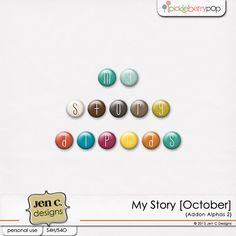 My Story [October] Addon Alphas 2 - Bead Alphas