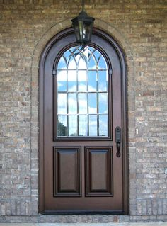 Custom French Country Door With Beveled Glass Entry - Doors by Decora Entry Doors With Glass, Glass Front Door, Front Doors, Glass Door, Front Door Design, Beveled Glass, French Country, New Homes, Windows