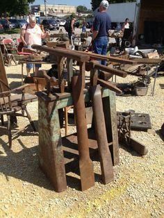 Stake anvils, plate and stand