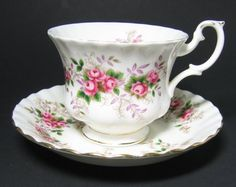 Royal Albert 'Lavender Rose' pattern made from 1961 to 2009. Originally from my father's collection.