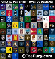 June 2013 Grab Bag - $7 Random Shirts at http://teefury.com on June 24th!
