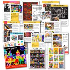 Paul Klee's Castle and Sun Art project Art Education Lessons, Art Lessons, Paul Klee Art, Deep Space Sparkle, 5th Grade Art, Sun Art, Art Base, Art Lesson Plans, Art Classroom